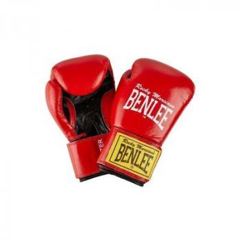 Benlee Leather Boxing Gloves Fighter Red/Black (194006-2514)