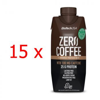 BioTech USA Zero Coffee Protein Drink 15 x 330ml Kiste