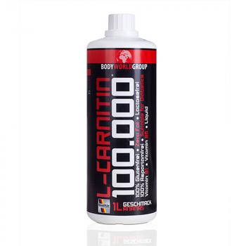 Bodyworldgroup BWG L-Carnitin Liquid 100.000 1000ml Muscle Line rote Flasche
