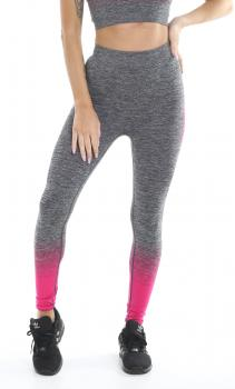 Golds Gym Ladies Seamless Legging grey pink